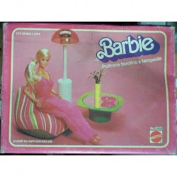 Barbie Dream Furniture poltrona tavolino lampada 1978