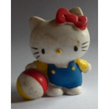 Sanrio miniatura pupazzo Hello Kitty con palla vintage
