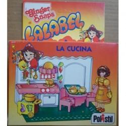 Polistil bambola Lalabel playset cucina 1981