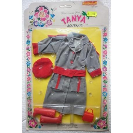 Cappotto grigio per bambola Tanya principessa dei fiori
