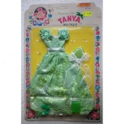 Vestito da sera verde per bambola Tanya principessa dei fiori