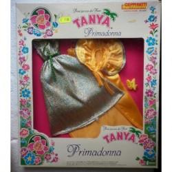 Vestito da sera giallo per bambola Tanya Primadonna
