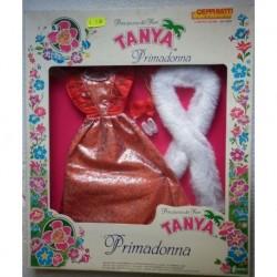 Vestito da sera rosso per bambola Tanya Primadonna