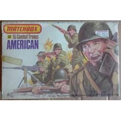Matchbox soldatini truppe combattimento americane 1/32