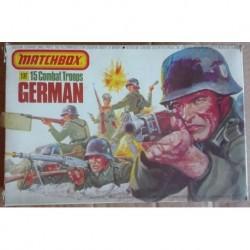 Matchbox soldatini truppe da combattimento tedesche 1/32 1976