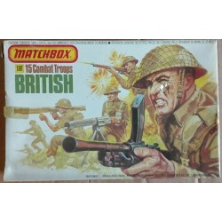 Matchbox soldatini truppe da combattimento inglesi 1/32 1976