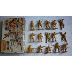 Matchbox soldatini truppe da combattimento Afrikakorps 1/32 1983