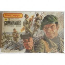 Matchbox soldatini commandos inglesi 1/32 1978