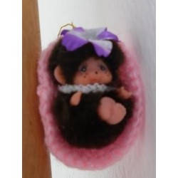Moncicci Daisuke Toho Bussan miniatura culla rosa
