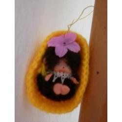 Moncicci Daisuke Toho Bussan miniatura culla gialla