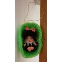 Moncicci Daisuke Toho Bussan miniatura culla verde