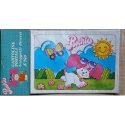 Poochie 6 cartoline postali 1983