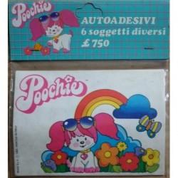 Poochie set 6 autoadesivi 1983