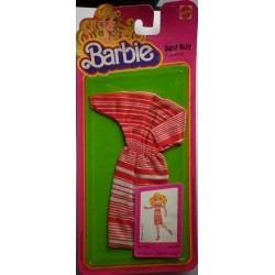 Vestito Barbie Best Buy Fashions righe rosse