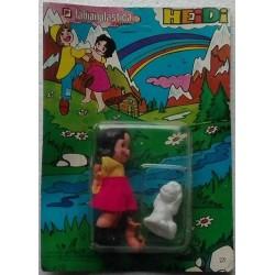 Fabianplastica bambolina Heidi con cane Nebbia