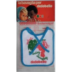 Bavaglino blu sabato per bambola Cicciobello
