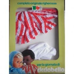 Completo originale righe rosse per bambola Cicciobello