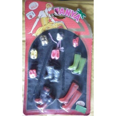 Set di scarpe per bambola Tanya Barbie