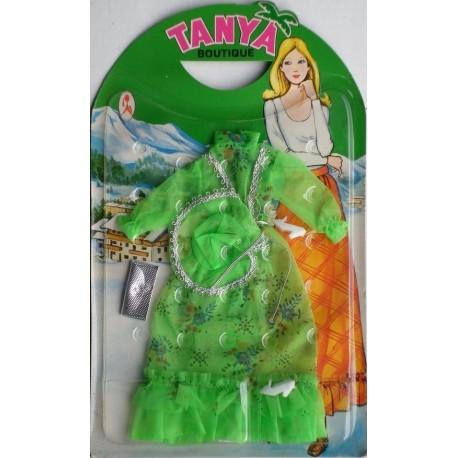 Vestito Boutique da sera verde per bambola Tanya